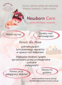 NewbornCare to Niania na noc i na dzień, opieka i pielęgnacja niemowlaka, pomoc doraźna na godziny